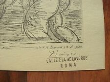 PABLO PICASSO SIGNED WITH PENCIL PRINT OR ETCHING GALLERIA BELAVERDE ROMA ROME