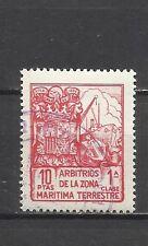 0894-SELLO FISCAL BARCOS ARBITRIOS ZONA MARITIMA Y TERRESTRE ,10 PESETAS.FRANCO
