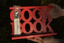 Metal Red Enamelled Kitchen Recipe / Cook Book Stand / Holder