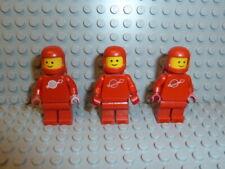 LEGO® Space Classic 3x Figur Astronaut rot mit Airtank 1968 918 6930 6929 F1265