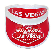 Dealer Visor Red Las Vegas Style  One Size Fits Most - Expandable Headband *