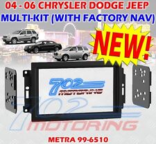 JEEP CHRYSLER DODGE DOUBLE DIN CAR RADIO STEREO DASH INSTALL KIT MOUNT GPS NAV