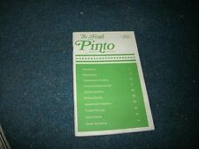 1976 Ford Pinto Factory Original Owners Operators Manual Book