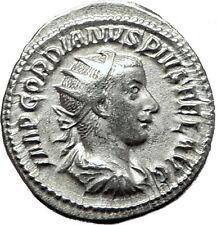 GORDIAN III 239AD Rome Authentic Genuine Ancient Silver Roman Coin ROMA i59118