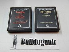 Game Lot of 2 Bowling & Slot Racers Atari 2600 Games