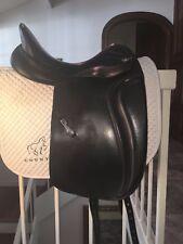 """Beautiful Zaldi Melenium Dressage Saddle 17.5"""" seat, M tree"""