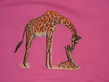 Large Embroidered Zippered Tote - Giraffe Bt3647