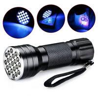 UV Ultra Violet 21 LED Taschenlampe Schwarzlicht Licht 395nm 2020++ NEU