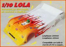 Carrozzeria 1/10 200mm LOLA Body 1:10 Verniciata Painted Gialla-Rosso-Bianco