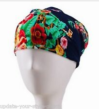 Breites Haarband CHIFFON Floral Bandana YOGA Vintage Style - 7 Farben zur Wahl