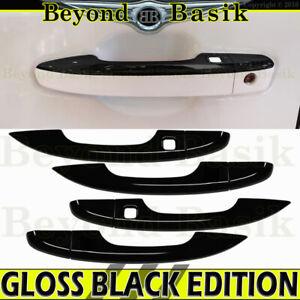 For 2018 2019 2020 2021 Honda Accord GLOSS BLACK Door Handle COVERS TRIMS W/SK