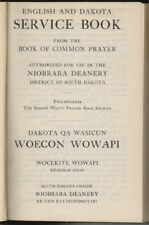 English Dakota Prayer Book First Edition 1918 Native American Bible Sioux
