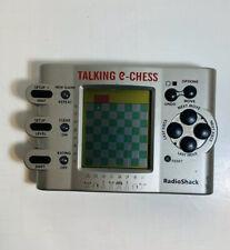 Radio Shack Talking E-Chess Electronic Handheld Game Missing Battery Door 602846