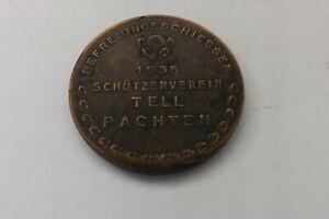 1935 SCHUTZENVEREIN TELL PACHTEN DEUTSC DIESAAR MEDAL 4CMS 23.8GRAMMES (3057)