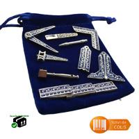 Accessoires franc-maçon compas équerre maillet décor maçonnique 9 pièces