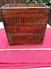 More details for vintage wooden beer crate davenports bottle case used for home delivery