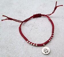 NiCe! Hmong Hill Tribe Unisex Silver & Hemp Adjustable Charm Bracelet