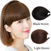 Braided Hairband Synthetic Bangs Heat Resistant Bangs Hair Extensions for Lady x