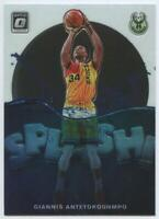 MINT Giannis Antetokounmpo 2019-20 Donruss Optic SPLASH Base Card 3 Insert Bucks