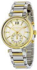 Michael Kors MK6225 Sawyer Silver Dial Two Tone Chronograph Women's Watch