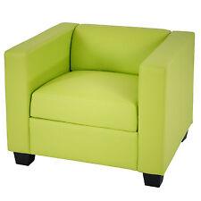 Sessel Loungesessel Lille Kunstleder, hellgrün