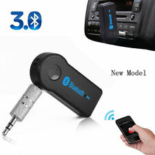 Wireless Bluetooth 3.5mm AUX Audio Stereo Music Home Car Receiver Adapter blue L