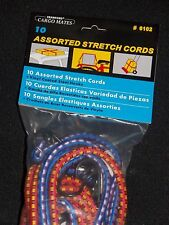 Cargo Mates by Crawford BUNGEE CORD package contains 10 assorted stretch cords