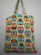 Cotton Canvas Tote Shopping Handbag Shoulder Cute Bag Women Girls Purse-Owls