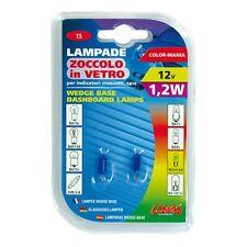 COPPIA LAMPADE LAMPADINE BLU ZOCCOLO VETRO 1,2W T5 CRUSCOTTO