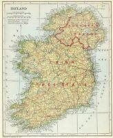 1925 Antique IRELAND Map Original Vintage Map of Ireland Gallery Wall Art 8037