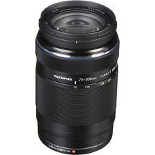 New Olympus M. ZUIKO Digital ED 75-300mm f4.8-6.7 II Lens Black