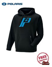 POLARIS MEN'S RETRO LOGO HOODIE SWEAT SHIRT NEW BLACK BLUE RZR RMK SKS ACE INDY