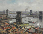 Guy Wiggins Morning On The East River Canvas Print 16 x 20        #3550