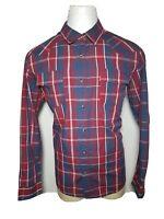 Levis XL Red White Blue Pearl-Snap Men's Western Rockability Button-Front Shirt