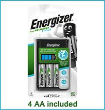 Energizer 1 ora Caricabatterie AA e AAA + 4x AA Batterie Ricaricabili NiMH 2300mAh