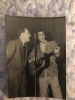 ELVIS RARE CANDID ORIGINAL 3x5 PHOTO ELLIS AUDITORIUM MEMPHIS Feb 1956  076