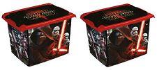 2 x Coffre à jouets coffre à jouets boîte Fashion-Box Disney Star Wars 20 L