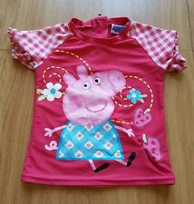 Asda George Peppa Pig UV Sun Safe Swim Top Swim Suit Costume 18-24 months  (20)