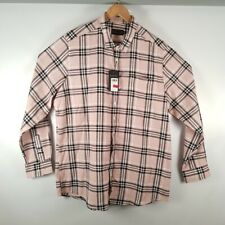 LABEL J LONG SLEEVE CHECK SHIRT LONG PINK SIZE 1XL 48/50 BNWT