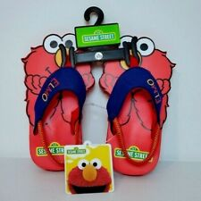 Sesame Street ELMO Sandals Children Toddlers Size Small 5/6 Beach Flip Flops NEW