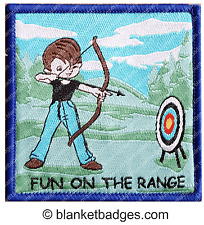 5x Fun on the range archery boy scout sport blanket badge patch patches badges