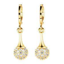 Fashion Women Sparkly Waterdrop Cubic Zirconia CZ Drop Earrings Jewelry Party