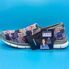 Skechers Healthcare Pro Sr Work Slip Resistant Slip On Cats Shoes Gray 8.5 New