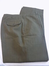 VINTAGE USMC MENS OD GREEN TROUSERS 36S Poly Wool blend Pants
