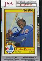 Andre Dawson 1984 Topps Nestle JSA Coa Autograph Authentic Hand Signed