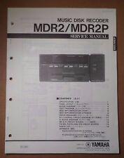 Original Yamaha MDR2/MDR2P Music Disk Recoder SERVICE Manual