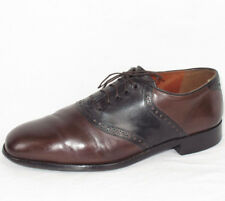 Florsheim for Duckie Brown Brown/Black Dress Saddle Shoes Oxfords Sz. 10 D