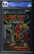 Marvel Team-Up #35 - Marvel 1975  CGC 9.6 OW/WH Pages Human Torch Doctor Strange