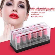 Bioaoua 12pcs/set Makeup Lips Lip Gloss High Quality Lipstick Long Lasting