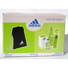 """Adidas """"energy"""" Woman Sport - edt 30ml Shower Gel 200ml Deospray 75ml Gym"""